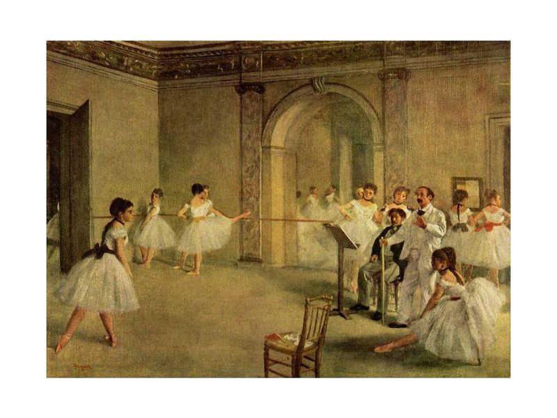 Salle du Ballet peinte par Degas