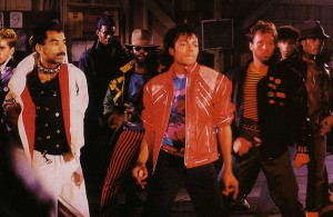 Michael Peters et Michael Jackson dans Beat it