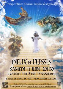 Dieux et Déesses Spectacle 2016 de Temps Danse Asnières Samedi 11 juin 2016 à 20h30
